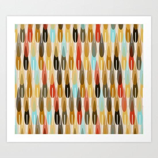 modern feathers Art Print
