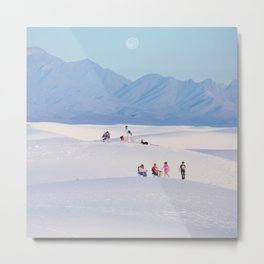 Families at White Sands Metal Print