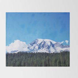 Mount Rainier, Washington Throw Blanket