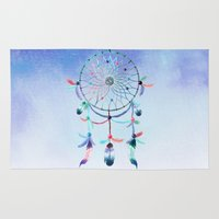 dream catcher Area & Throw Rugs featuring Dream Catcher by Find a Gift Now