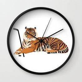 Ice Hockey Tiger Wall Clock