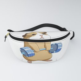 Funny Weight Lifting Fitness Gym Guinea Pig Fanny Pack