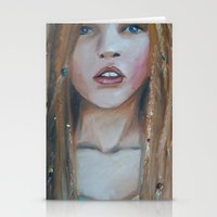 teen titans Stationery Cards featuring Teen by Sarah Ridings