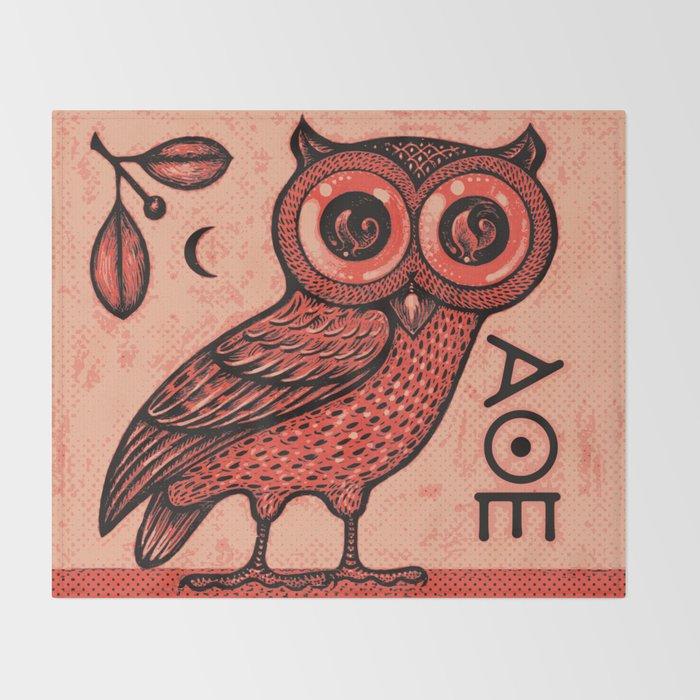 Athena's Owl Throw Blanket
