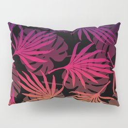 Plam Leaves Monstera pink violet Pillow Sham