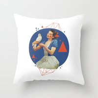 dorothy Throw Pillows featuring Dorothy by Cut and Paste Lady