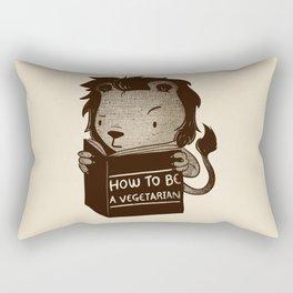 Lion Book How To Be Vegetarian Rectangular Pillow