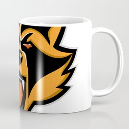 Angry Raccoon Head Mascot Coffee Mug