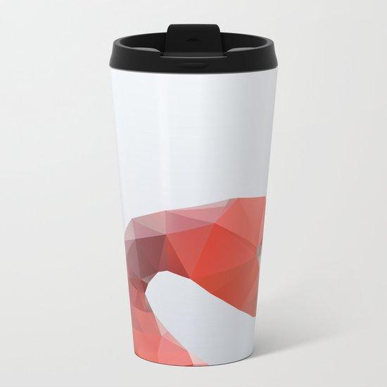 Geometrical - Flamingo Metal Travel Mug
