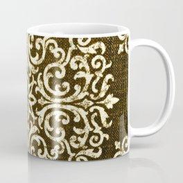 Damask Brown and Beige Fleur De Lis Paisley Vintage Pattern Coffee Mug