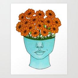 flowerhead flowerpot Art Print
