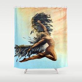 Season of the Legend - Icarus Descending Shower Curtain