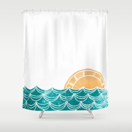Ocean Sunrise Shower Curtain