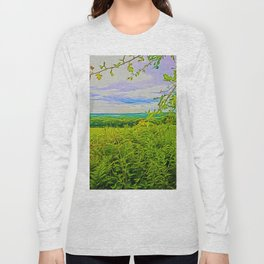 Parbold Hill (Digital Art) Long Sleeve T-shirt