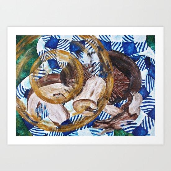 Mushroomy-shroomens. Art Print