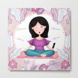 Modern Day Meditation Metal Print