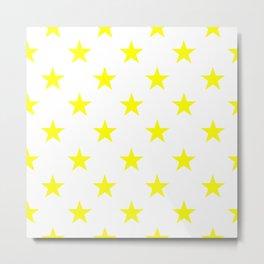 Stars (Yellow/White) Metal Print