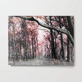 Pathway to Bliss Pink Metal Print