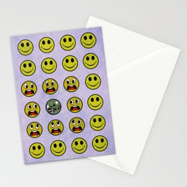 Attack of the Zombie smiley! Stationery Cards