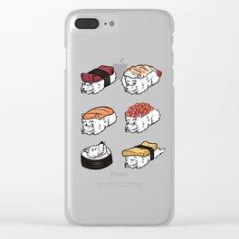 Westie Sushi Nigiri Clear iPhone Case