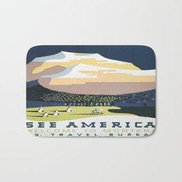 Vintage poster - Montana Bath Mat