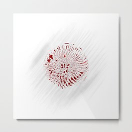 Minimal Nature - Echinacea Red Metal Print