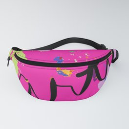 Artist paint drop cloth in pink Fanny Pack