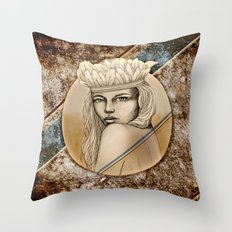 Sydney Summer by carographic Throw Pillow