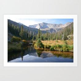 Morning On Glacier Creek Art Print