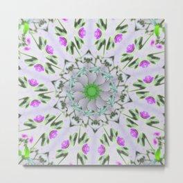 Purple Wildflower Kaleidoscope Art 7 Metal Print