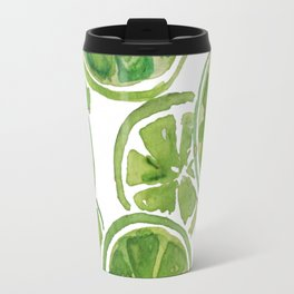 Watercolor LIMES Travel Mug