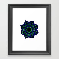 Peacock flower | Mandala Framed Art Print