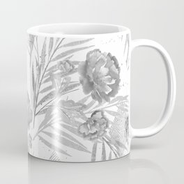 Gray flowers on a white background. Coffee Mug