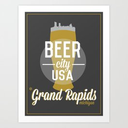 Beer City Art Print