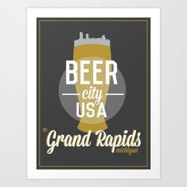 Beer City Art Print