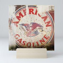 American Gasoline - Vintage Label Mini Art Print