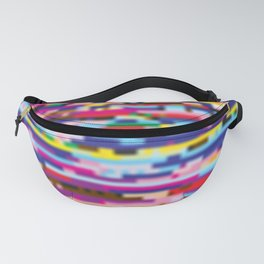 Glitch colorful background Fanny Pack
