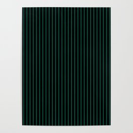 Lush Meadow and Black Stripes Poster