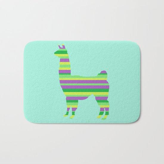 Llama Stripes Bath Mat