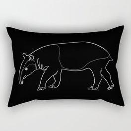 Tapir (black) Rectangular Pillow