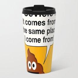 Funny Pile of Poo Covfefe Travel Mug