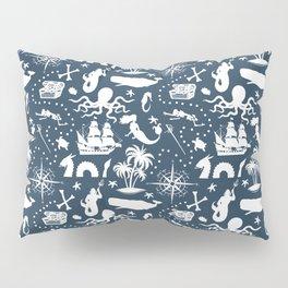 High Seas Adventure on Navy Pillow Sham