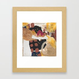 Searching through pages Framed Art Print