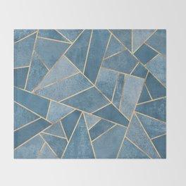 Dusk Blue Stone Throw Blanket