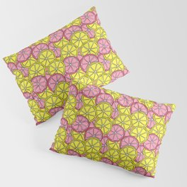 Summer Doodle - Pink and Yellow Lemons Pattern Pillow Sham
