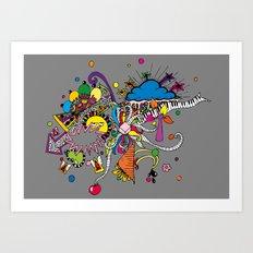 Colored Doodle Art Print