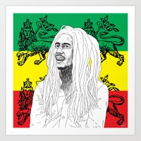 marley Art Prints featuring MARLEY  by Kayser152