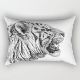 White Tiger Profile Rectangular Pillow