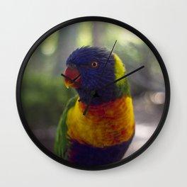 Rainbow Lorikeet. Wall Clock