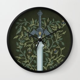 Sword of Time Wall Clock